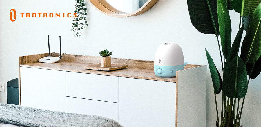 BPA-Free Tabletop Whale-Shaped Humidifier