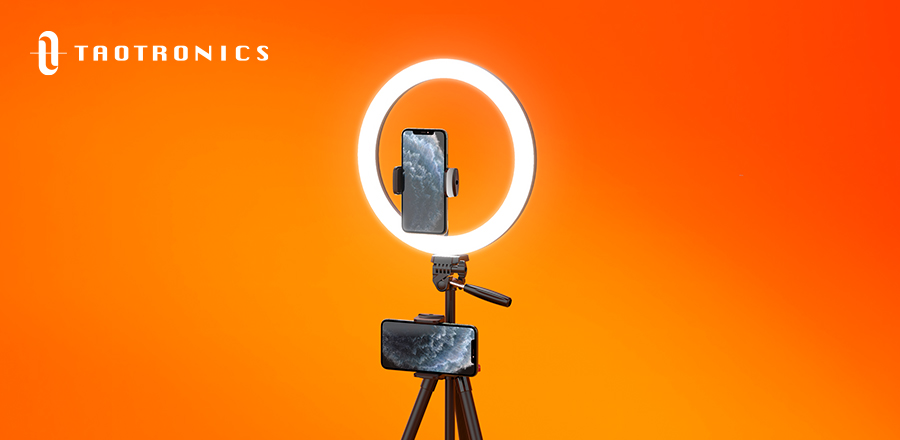 There are three incredible standing ring lights available on the TaoTronics site.