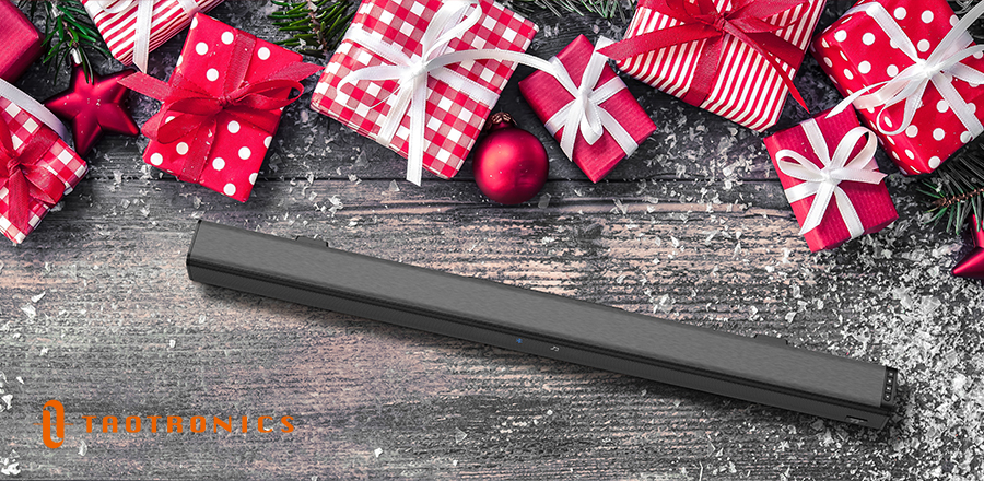 Our Christmas gift idea for a boyfriend this year is a TV Soundbar TT-SK023